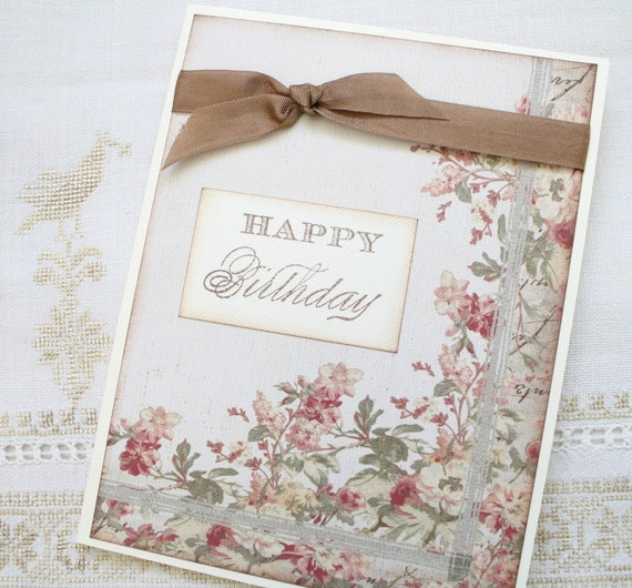 Greeting Card - Happy Birthday Flowers