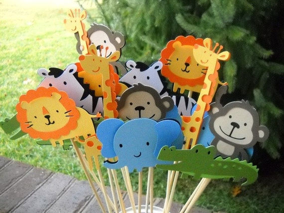 Decorating Ideas > Cardstock Jungle Animals ~ 200332_Birthday Party Ideas Zoo Animals