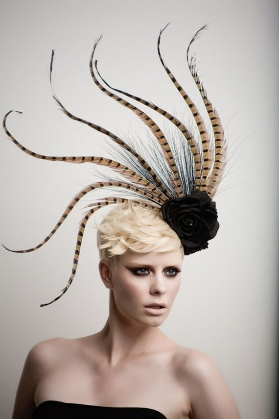 Pheasant Tale fashion Headpiece