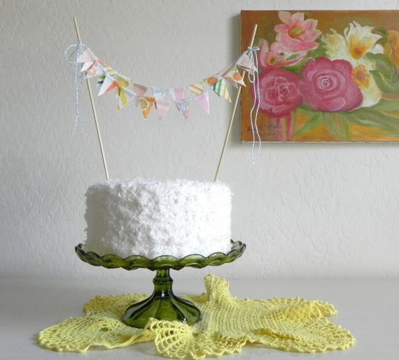 Cremesicle Fabric Cake Bunting Decoration