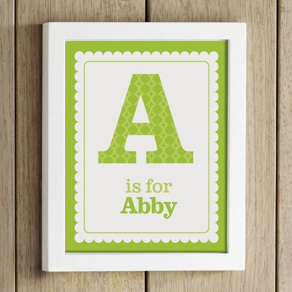 custom name nursery print