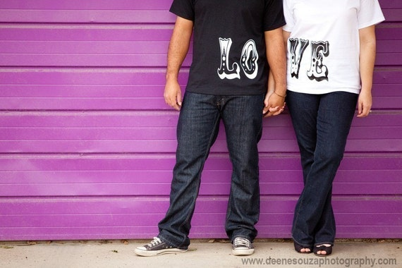 His and Her L.O.V.E. Tshirts