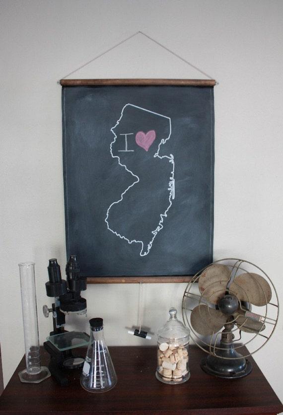 Chalkboard State Map