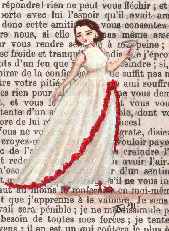 NEW Open Edition ACEO Print - Paris 1957 - Helene Has The Perfect Dress, The Perfect Martini...Now For The Perfect Man