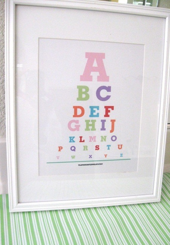 Eye exam charts(Alphabet prints for nursery )...