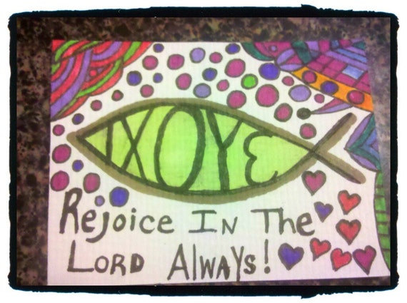 Rejoice In the Lord Always Art ACEO Free Shipping