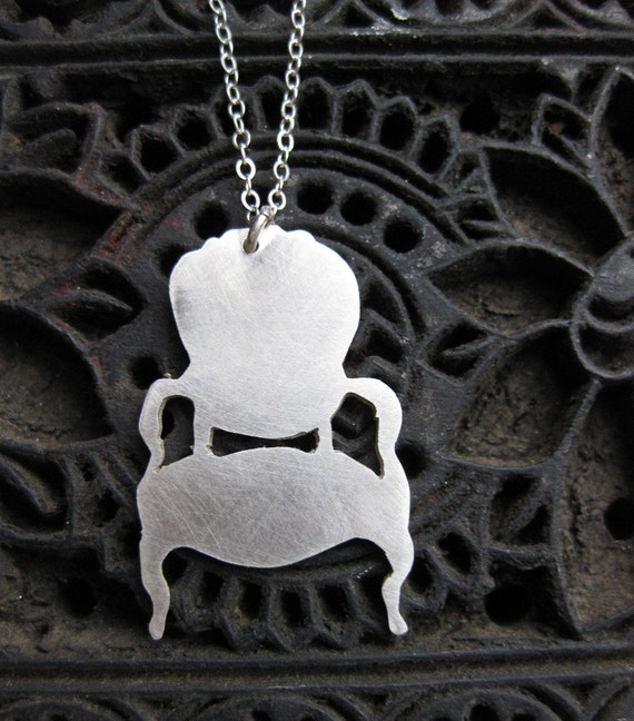CHAIR sterling silver necklace