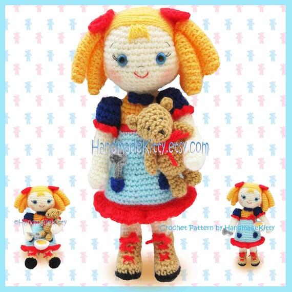 Goldilocks and the Three Little Bears Amigurumi PDF Crochet Pattern by HandmadeKitty