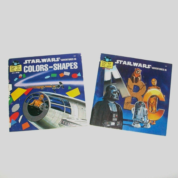 Vintage 80s STAR WARS Set of Two Children's Records