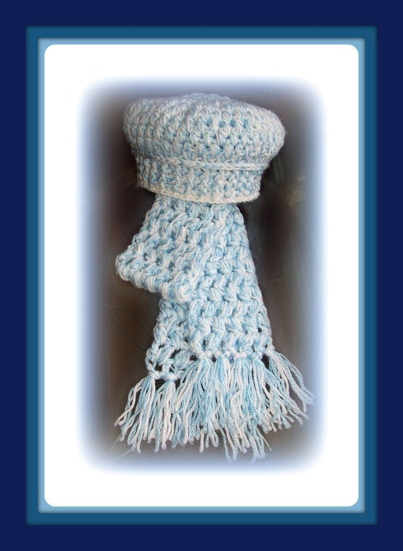 PDF file Crochet pattern Hat and Scarf set