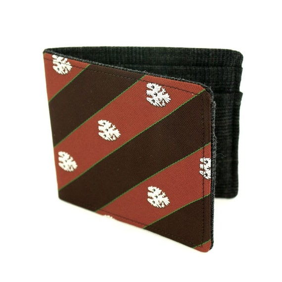 Necktie Wallet - Recycled Tie Prep School Brown Striped