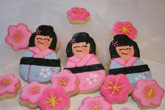 Lil' Asian Girl Sugar Cookie Set