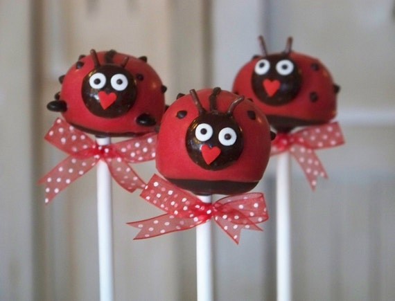 Mom's Killer Cakes & Cookies Ladybug Lady Bug Picnic Cake Pops Perfect For Easter