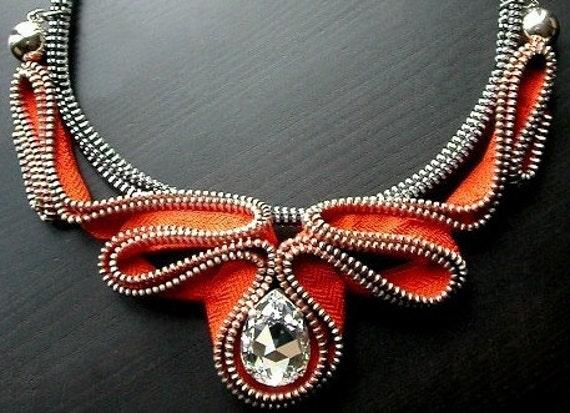 Ожерелье из молний своими руками