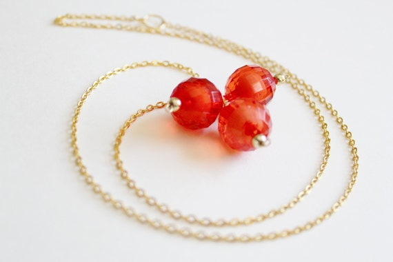 Craving Coral Necklace - Gold or Silver