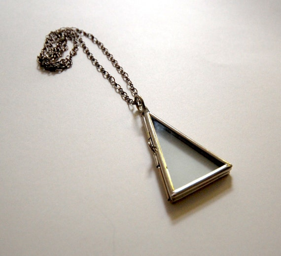 Triangle Glass Locket