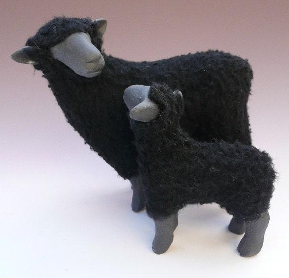 Black Ewe and Lamb
