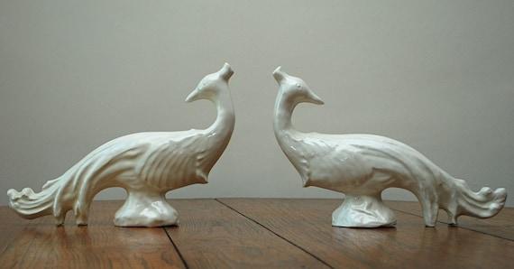 the estate of things chooses vintage ceramic peacocks