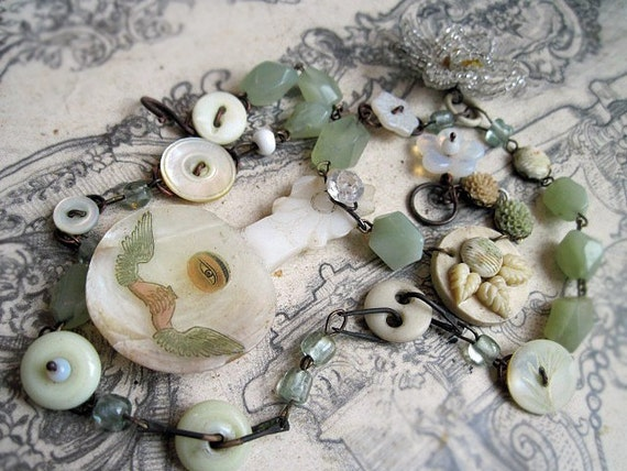 If My Spirit Be Bound. Jade Prayer and Buttons.