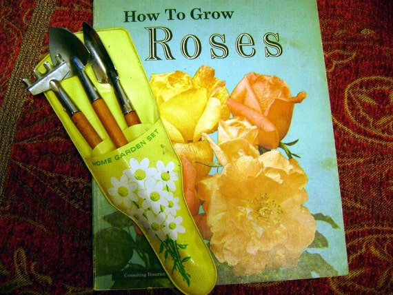 How to Grow Roses Sunset Book first edition and vintage garden tools  Spring Sale