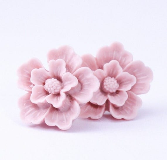 Pale Pink Sakura Post Earrings