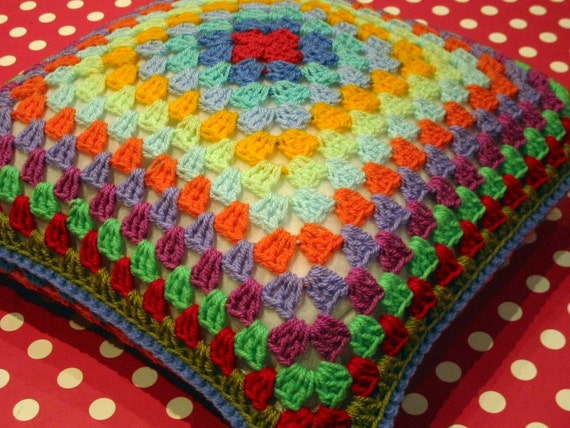 Retro Style 'Granny' Cushion Pillow Cover