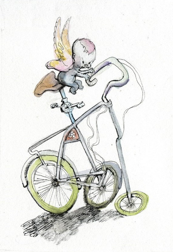 fairy bike painting