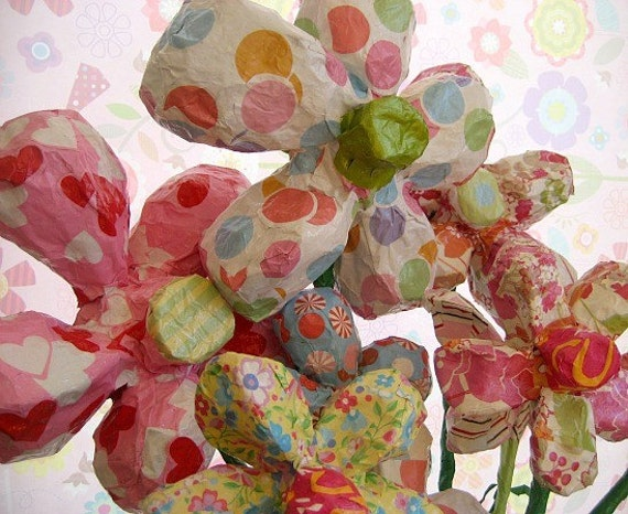 Paper Mache Flowers Made to Order - Size Large