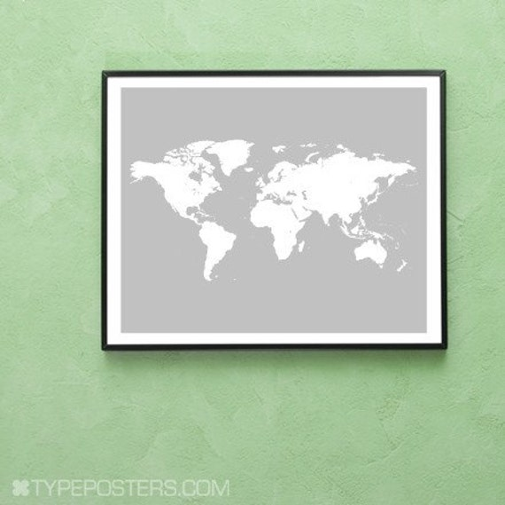 Map Of The World - 16 x 20 Art Print