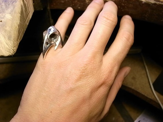 Sterling Silver Bird Skull Ring