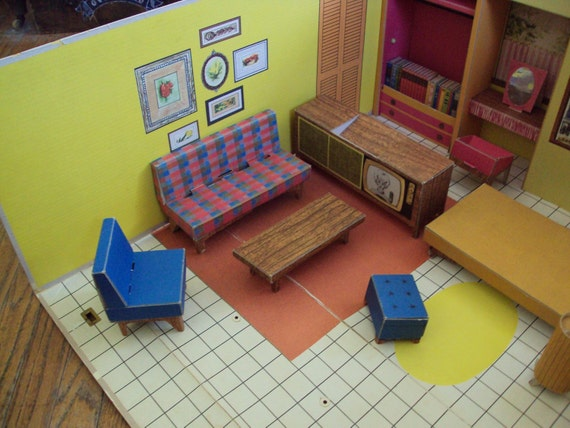 Vintage 1962 Barbie Dream house by Matel Now On Sale 10 bucks off