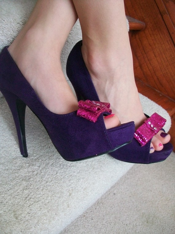 Size 7 Girls Just Wanna Have Fun Platform Shoes... Glitter Fun...Ready To Ship