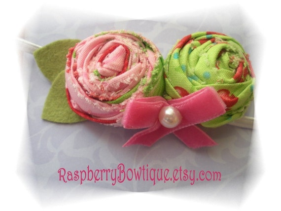 Handmade Rosette U PICK Headband, or Hair Clip, or Brooch---ready to be shipped