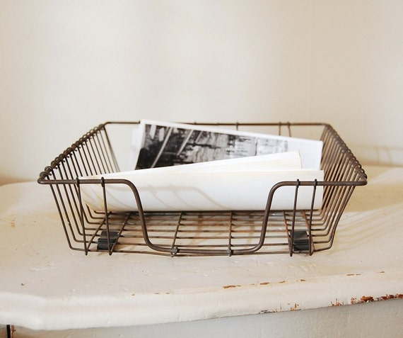 Rustic Wire Desk Tray