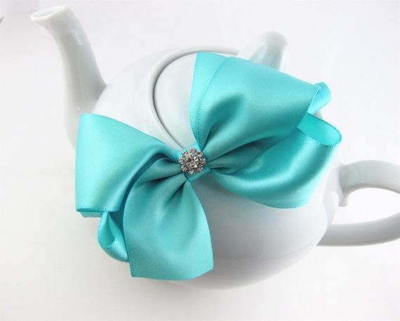 Tiffany Blue Satin Little Girl Glam Classic Boutique Bow Headband