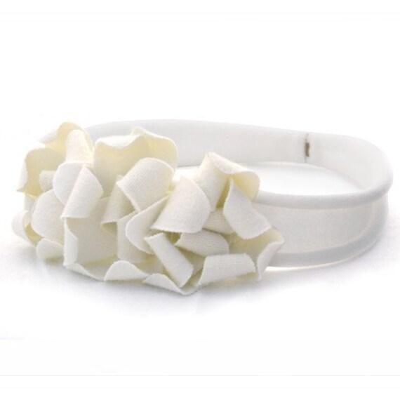 Petit Petal Headband White/Linen