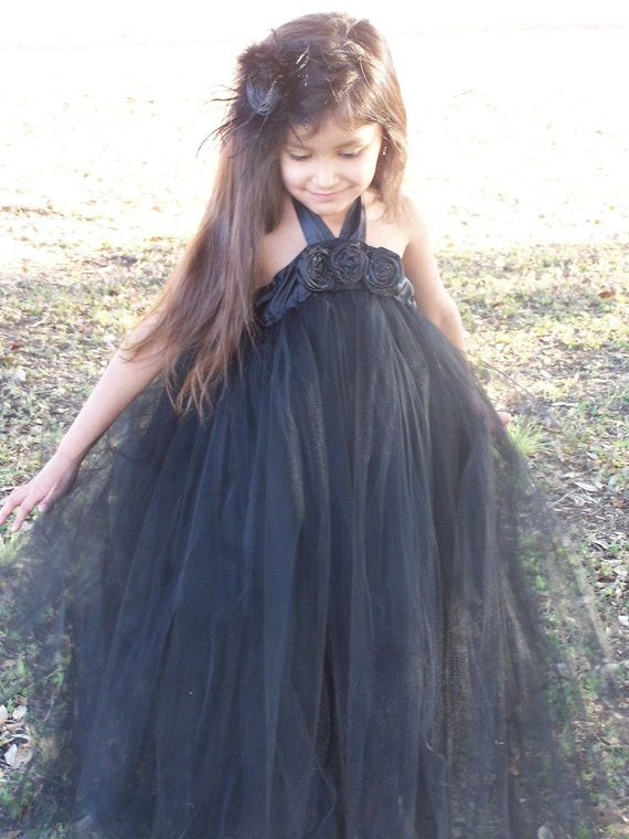 ظریف آبنوس سیاه و سفید ساتن لباس توتو