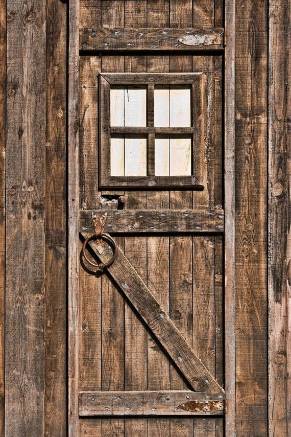 4x6 Foot Vinyl Photography Backdrop -- Old Wooden Door