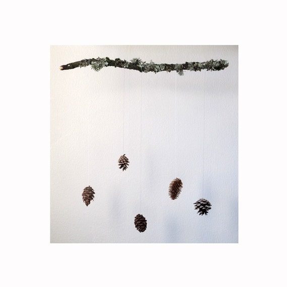 large pine cone mobile