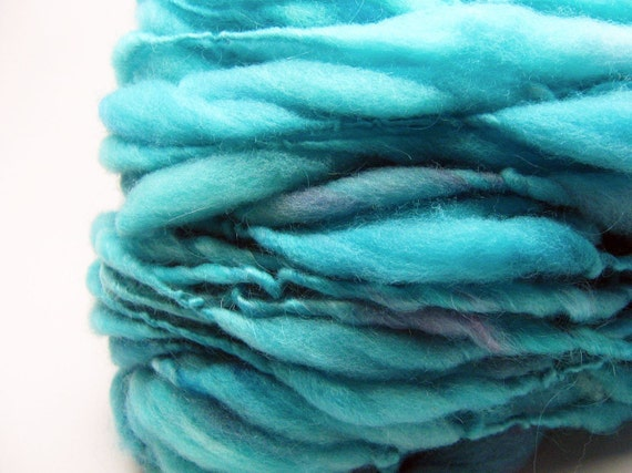 Beyond super bulky handspun yarn in merino wool - 40 yards
