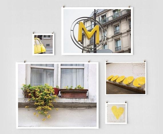 Paris Photo Collection - Mixed Sizes Yellow