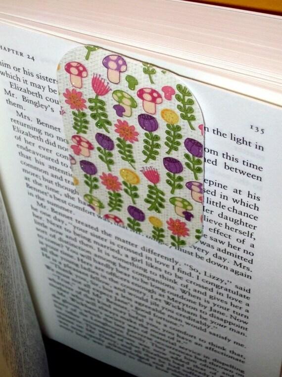 Spring Mushrooms Magnetic Bookmark