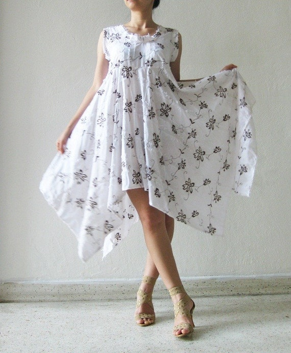 Magic..white cotton dress