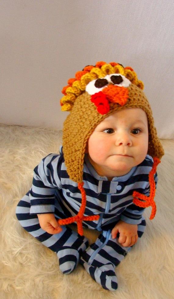Turkey Hat 3sizes to crochet pattern pdf 536