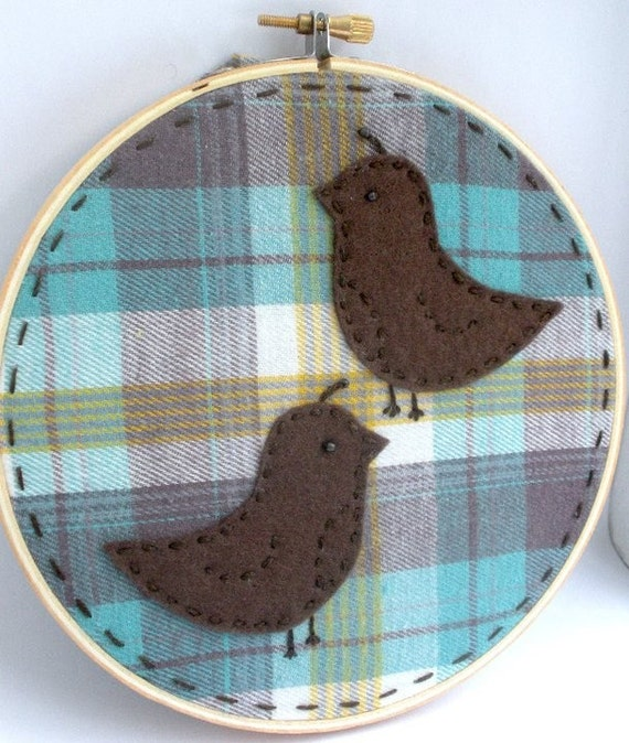 Birds of a Feather Embroidery Hoop Art