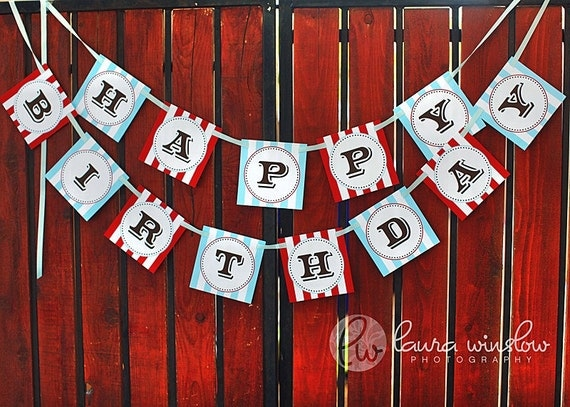 PRINTABLE Happy Birthday Banner - Vintage Cowboy Party Collection - The TomKat Studio