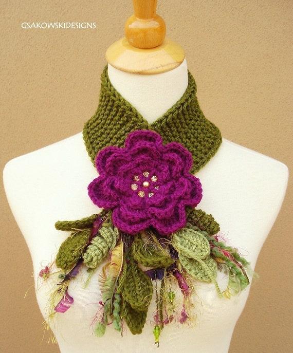 Magenta Flower Scarflette
