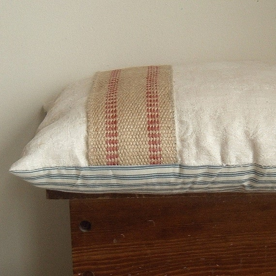 farmhouse pillow with organic bamboo fiber stuffing