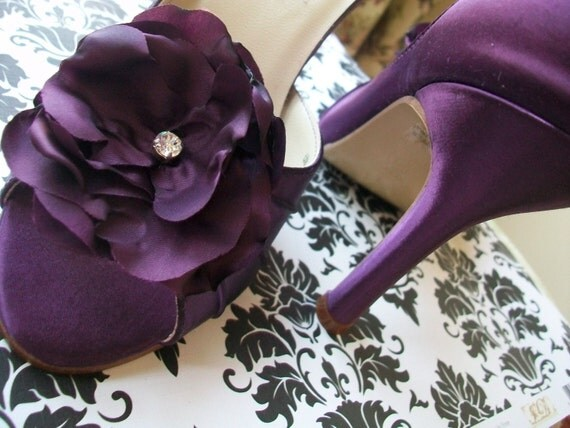 Purple Plum 2.5 Heel Aubergine Shoes....Available In Other Colors