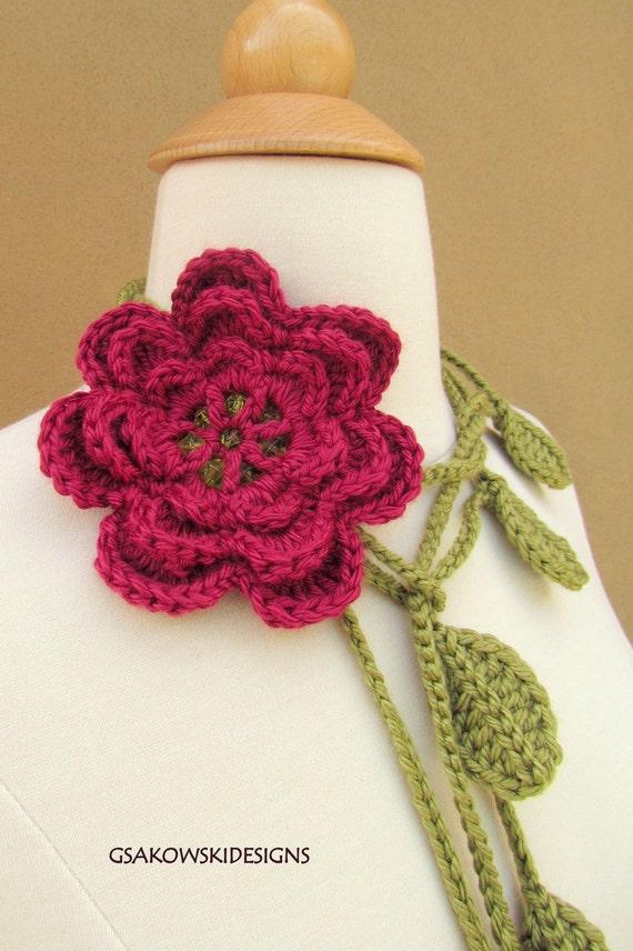 Rose Flower Lariat